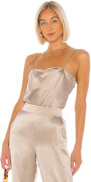 Dean Bodysuit in Taupe. - size M (also in L,S,XS)