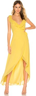 RSVP by BB Dakota Formation Maxi Dress in Yellow. - size M (also in L,S,XS)