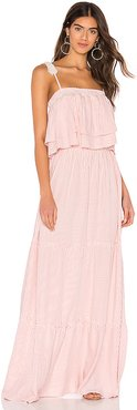 JACK by BB Dakota Live Laugh Layer Maxi Dress in Pink. - size L (also in M)