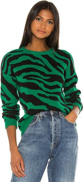 You're An Animal Sweater in Green. - size XS (also in L,M,S)