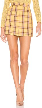 Best I Ever Plaid Skirt in Yellow. - size 6 (also in 2,4)
