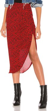 Ruched Awakening Skirt in Red. - size 4 (also in 0,6)