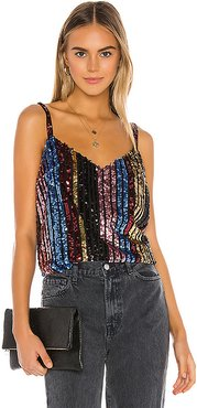 Party's Arrived Sequin Top in Black,Pink,Metallic Gold,Blue. - size M (also in S,XS,L)