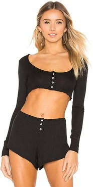 Kylie Top in Black. - size XS (also in L,M,S)