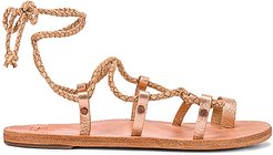 Wren Sandal in Metallic Gold. - size 6 (also in 7,8,9,10)