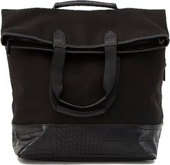 Convertible Backpack in Black.