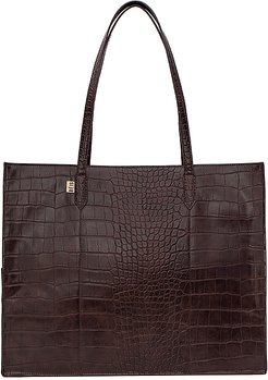 Work Tote in Brown.