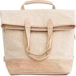 Convertible Backpack in Cream.