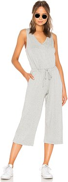 Farrah Cropped Jumpsuit in Grey. - size S (also in XS,M,L)