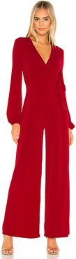Wrap Tied Knit Jumpsuit in Red. - size M (also in S,XS,L)