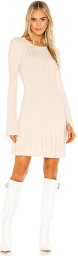 Day Sweater Dress in Taupe. - size L (also in S,XS,M)