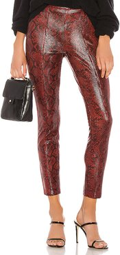 Vegan Leather Legging in Red. - size 24 (also in 26,23,25,27,28,29,30,31,32,33)