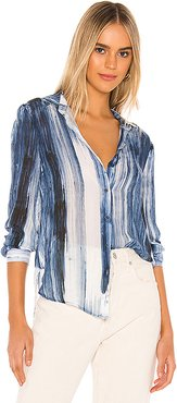 Flowy Button Down in Blue. - size XS (also in S,M,L)
