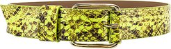 Ivy Wide Hendrix Belt in Yellow. - size XS (also in L,M,S)