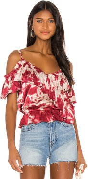 Convertible Etta Ruffle Cami in Red. - size S (also in XS,M,L)