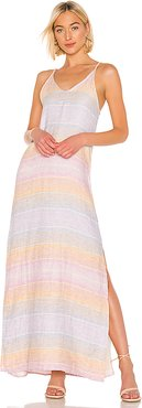 Sunset Linen Maxi Dress in Orange. - size M (also in L,S,XS)