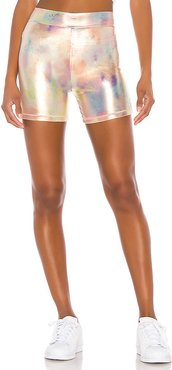 Slink Bike Shorts in Metallic Gold. - size L (also in XS,S,M)