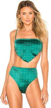 Chief Bandeau Bikini Top in Green. - size XS (also in S)