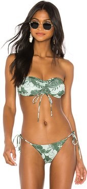 Shimmy Bandeau Top in Green. - size S (also in XS)