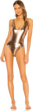Viva One Piece in Metallic Bronze. - size M (also in XS,S,L)