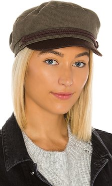 Fiddler Cap in Olive. - size S (also in XS,M)