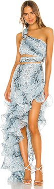 Runway Savannah Sky Gown in Blue. - size S (also in XS,M,L)