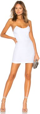 Stevie Sweetheart Mini Dress in White. - size XL (also in L)