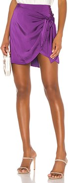 Ilana Wrap Mini Skirt in Purple. - size L (also in S,XS,M)
