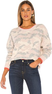 Brussels Pullover Sweater in Pink,Cream. - size S (also in XS,M,L)