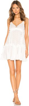Ruffles and Lace Mini Dress in White. - size XS (also in L,S)