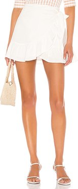 Olivier Wrap Skirt in White. - size L (also in S)