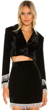 Jassira Boxy Cropped Blazer in Black. - size XS (also in S,M,L,XL)