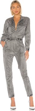 Utility Jumpsuit in Gray. - size M (also in S,XS,L)