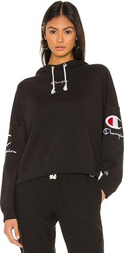 Sleeve Logo Hoodie in Black. - size M (also in XS,S)