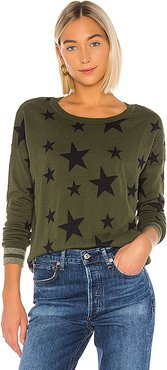Military Stars Cashmere Blend Sweater in Olive. - size XS (also in L,M,S)