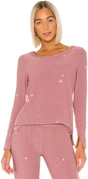Pinky Stars Sweatshirt in Pink. - size S (also in L,M,XS)