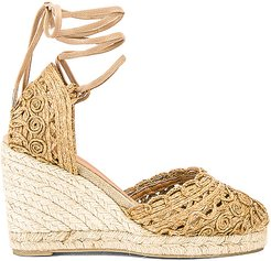 Carina Wedge in Tan. - size 36 (also in 37,38)