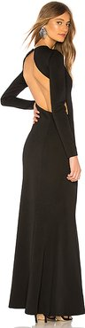 x REVOLVE Emmanuelle Maxi Dress in Black. - size L (also in XL)