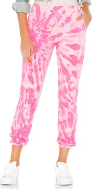 X REVOLVE Tie Dye Pant in Pink. - size S (also in M)