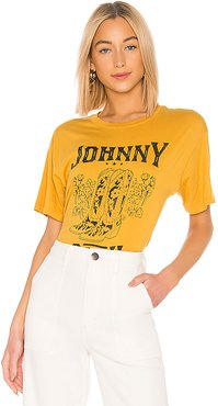 Johnny Cash Boots Tee in Mustard. - size L (also in S,M)
