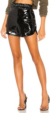 Proserpine Patent Short in Black. - size XS (also in S)