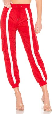 x REVOLVE Track Pant in Red. - size XS (also in S)