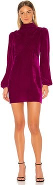 Mock Neck Mini Dress in Fuchsia. - size XS (also in S,M)