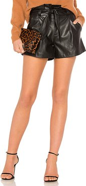 Paperbag Belted Short in Black. - size M (also in L,S,XS)