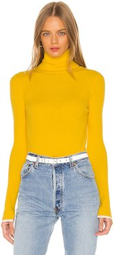 Edie Turtleneck Sweater in Yellow. - size S (also in M,L)