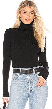 Edie Turtleneck Sweater in Black. - size M (also in L,S)