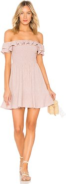 Smocked Bodice Dress in Pink. - size XS (also in S)