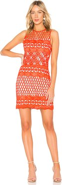 Guipure Lace Dress in Red. - size XS (also in S)