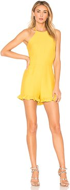 Ruffle Romper in Yellow. - size XS (also in L,M,S)