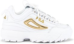 Disruptor 2 Metallic Accent in White. - size 6 (also in 8,8.5,9.5,10,7,9)